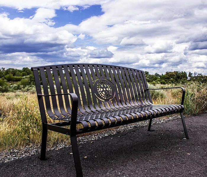 Fantastic Arched Maple Metal Bench Machost Co Dining Chair Design Ideas Machostcouk